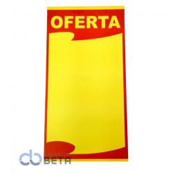 CARTAZ PROMOCIONAL - AMARELO RETANGULAR 29x50cm - PACOTE COM 100 UNIDADES