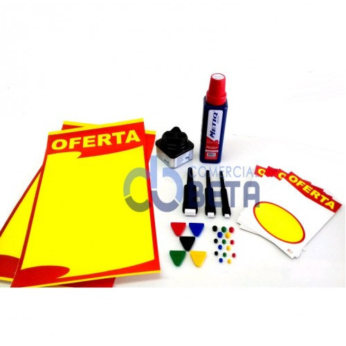 KIT PARA CARTAZISTA - 1 KIT 3 PONTAS + 1 TINTA METIQ + 200 CARTAZES